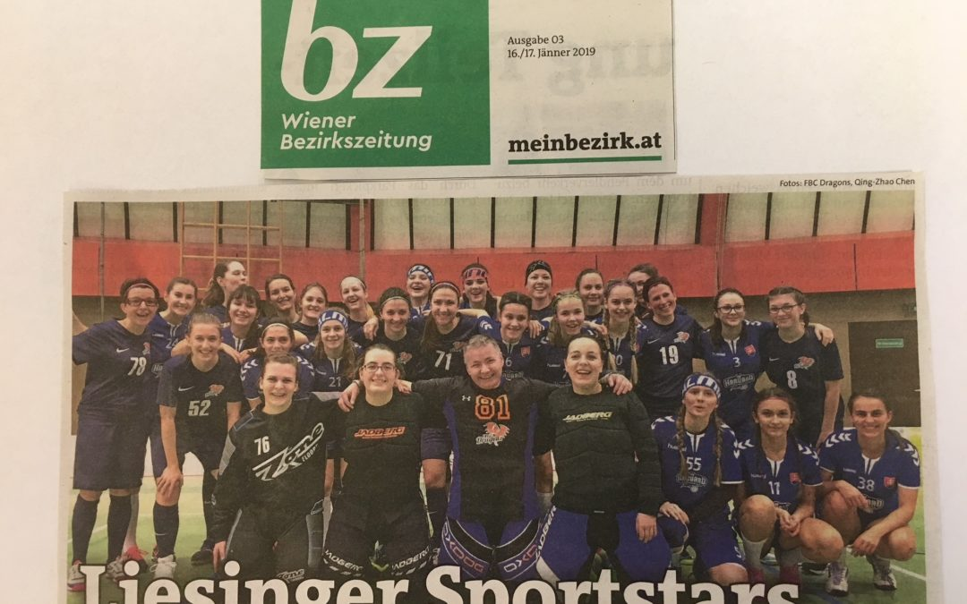 FBC Dragons in der Wiener Bezirkszeitung