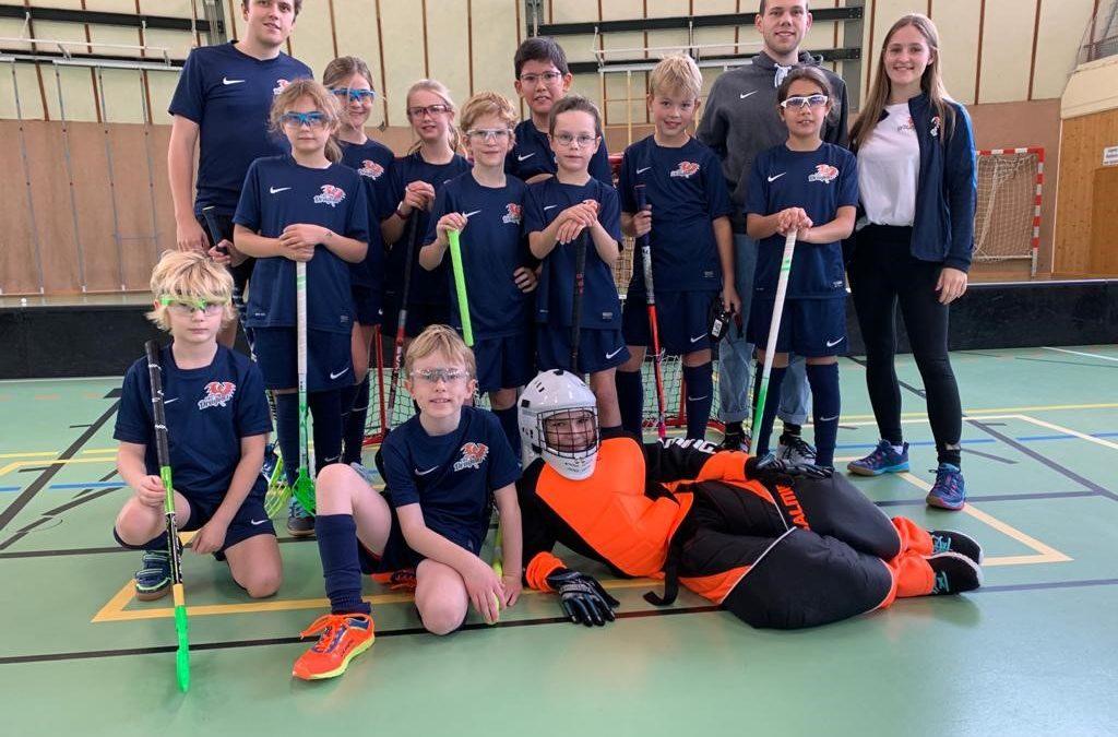 FBC Dragons spielt in der U12 Wiener Floorballmeisterschaft