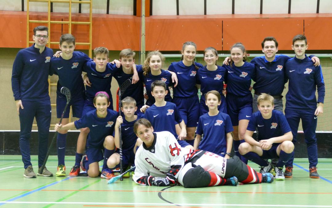 FBC Dragons intensives erstes Floorball Adventwochenende