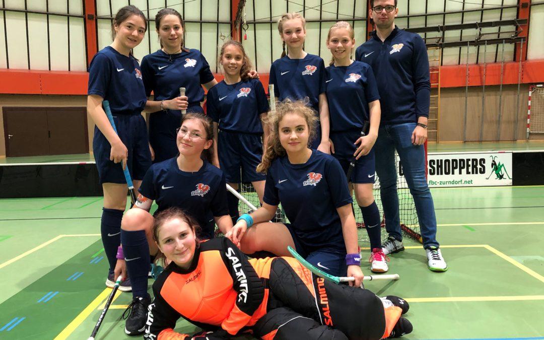 FBC Dragons U16 Mädels mit einem Sieg, einer Niederlage und einem Unentschieden